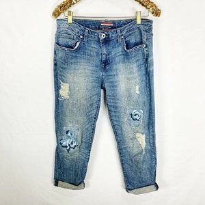 Tommy Hilfiger Embroidered Roses Boyfriend  Jeans